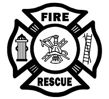 Firefighter Rescue Photographic Print