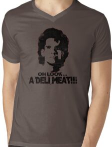 Heavyweights: Oh Look.. A Deli Meat!!! Black Mens V-Neck T-Shirt