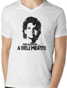 Heavyweights: Oh Look.. A Deli Meat!!! Black Mens V-Neck T-Shirt