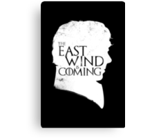 The East Wind Is Coming (White) Canvas Print