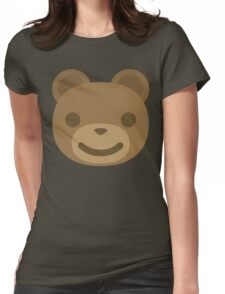 Emoji Teddy Bear Smiling Happy Face Womens Fitted T-Shirt