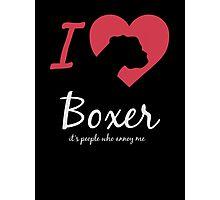 I Love Boxer Photographic Print