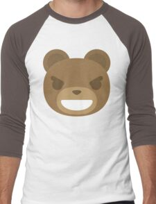 Emoji Teddy Bear Mischievous Naughty Look Men's Baseball ¾ T-Shirt