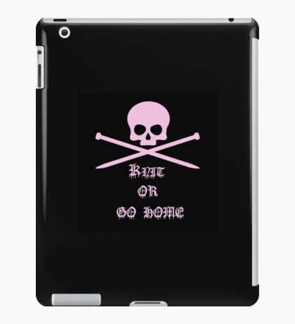 Knit or go home iPad Case/Skin