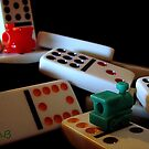 Mexican Train Dominoes by Susan Bergstrom