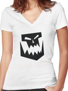 Waaagh ! Warhammer 40k T Shirt Women's Fitted V-Neck T-Shirt