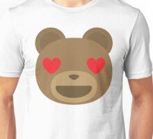 Emoji Teddy Bear Heart and Love Eyes Unisex T-Shirt