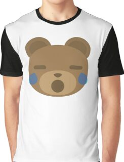 Emoji Teddy Bear Teary Eyes and Sad Look Graphic T-Shirt