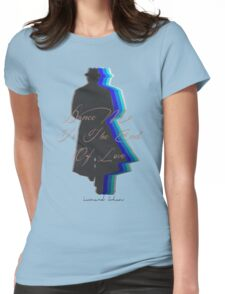 Dance Me to the End of Love, Leonard Cohen  Womens Fitted T-Shirt