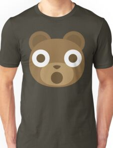Emoji Teddy Bear Shocked and Surprised Look Unisex T-Shirt