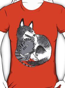 husky loves kitty T-Shirt