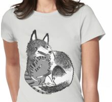 husky loves kitty Womens Fitted T-Shirt