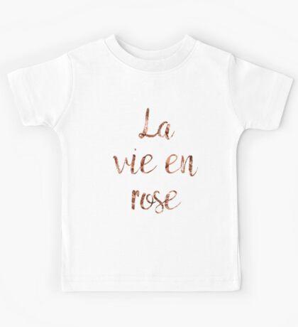 La vie en rose in rose Kids Tee