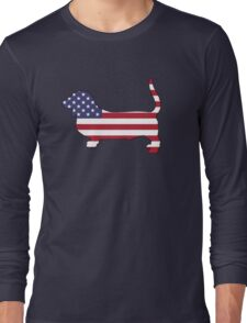 American Flag – Basset Hound Long Sleeve T-Shirt