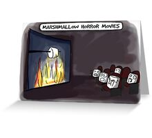 Marshmallow horror movies Greeting Card