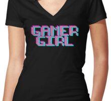 Gamer Girl Ver.Black Women's Fitted V-Neck T-Shirt