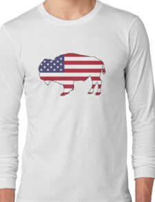 American Flag – Bison Long Sleeve T-Shirt