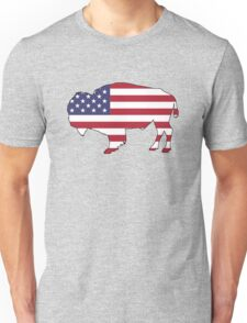American Flag – Bison Unisex T-Shirt