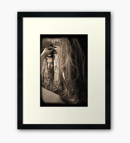 self inflicted Framed Print