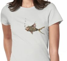 Steampunk fish Womens Fitted T-Shirt