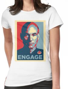 'Engage' (Obama style) T-shirt Womens Fitted T-Shirt