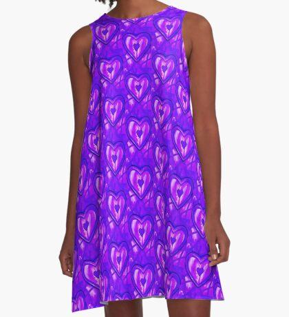 I Love Purple A-Line Dress