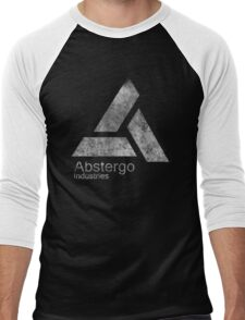 °GEEK° Abstergo Industries B&W Logo Men's Baseball ¾ T-Shirt