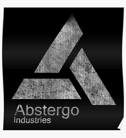°GEEK° Abstergo Industries B&W Logo Poster