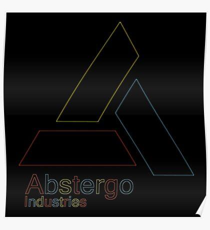 °GEEK° Abstergo Industries Neon Logo Poster