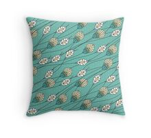 Windy Buds Throw Pillow