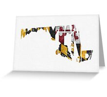 Maryland Typographic Map Flag Greeting Card