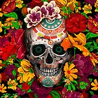 Day of the dead sugar skull with flower by Dadang Lugu Mara Perdana