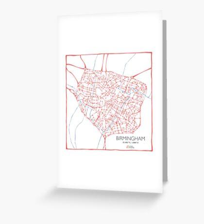 Birmingham (pink) Greeting Card
