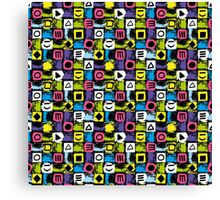 Back To The 80's Design Canvas Print