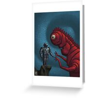 The Face Off  Greeting Card