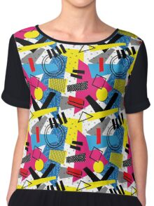 Back To The 80's Design Chiffon Top