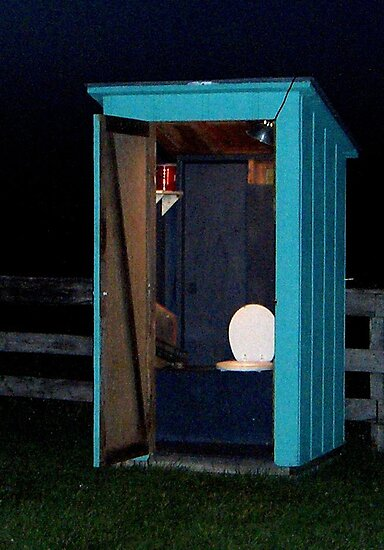electric blue outhouse by wormink