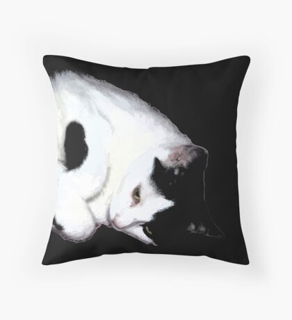 Milo, the cute cat Throw Pillow