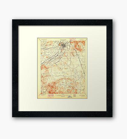 USGS TOPO Map California CA Riverside 298780 1901 62500 geo Framed Print