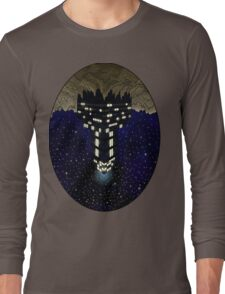 Skyscraper in space Long Sleeve T-Shirt