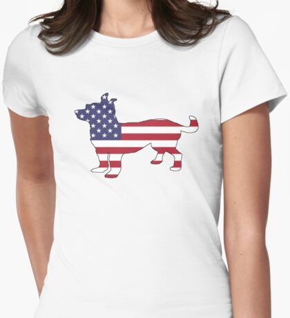 American Flag – Chihuahua Womens Fitted T-Shirt