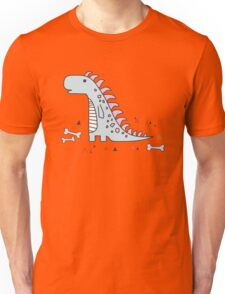Ornament with dinosaurs, Jurassic Park. Adorable seamless pattern with funny dinosaurs in cartoon Unisex T-Shirt