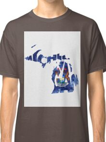 Michigan Typographic Map Flag Classic T-Shirt