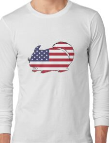 American Flag – Chinchilla Long Sleeve T-Shirt