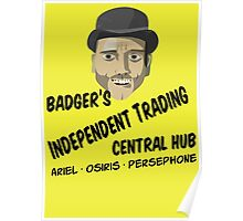 Badger's Independent Trading Poster