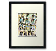 Casa Batllo - Watercolour & Pen Framed Print