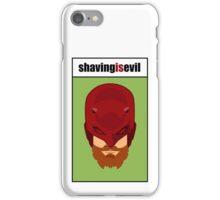 Daredevil with a beard iPhone Case/Skin