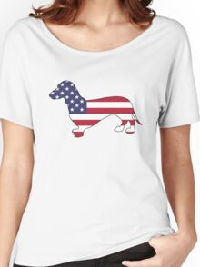 American Flag – Dachshund Women's Relaxed Fit T-Shirt