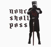None Shall Pass Kids Clothes