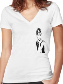 Audrey Hepburn Quote - Nothing Is Impossible Women's Fitted V-Neck T-Shirt
